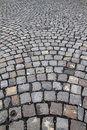 Cobblestone street close up from a Royalty Free Stock Photos