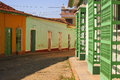 Cobblestone street in cuba trinidad Stock Photos