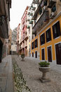 Cobblestone Street in Macau Stock Photo