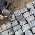 Cobblestone Street Repair Royalty Free Stock Photo