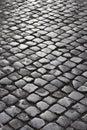 Cobblestone street in Rome, Italy. Royalty Free Stock Photo