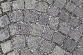 Cobblestone texture or background stone pavement Royalty Free Stock Images