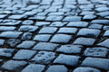Cobblestone way Stock Images
