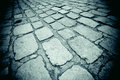 Cobblestones city of london england Stock Photography
