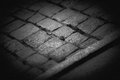 Cobblestones close up of a on a street Royalty Free Stock Image