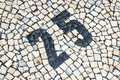 Cobblestones Number Royalty Free Stock Images