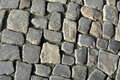 Cobblestones in the old town of quedlinburg Royalty Free Stock Photos
