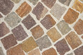 Cobblestones stone road close up texture Stock Photo