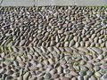 Coble stones in the streets of a town in italy pebble on street historic italian city Royalty Free Stock Photography