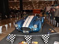 Cobra motocar shelby classic motorcar at auto show this rare automobile is an american clasic Stock Photo