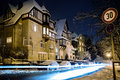 Coburg at night scenes of wintry in bavaria germany Royalty Free Stock Image