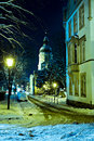 Coburg at night scenes of wintry in bavaria germany Royalty Free Stock Photos