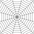 Cobweb background with black interwoven threads spider, vector symmetrical pattern spider web for Halloween Royalty Free Stock Photo