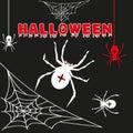 Cobweb spider web halloween black vector Royalty Free Stock Photo