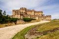 Coca Castle (Castillo de Coca) is a fortification constructed in Royalty Free Stock Photo