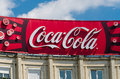 Coca cola advertising bucharest romania june on june in bucharest romania it is a carbonated soft drink sold in stores and Stock Photos