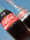 Coca Cola bottles Royalty Free Stock Photo