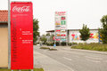 Coca cola fürstenfeldbruck sign infront of a bottling plant in germany Stock Photography