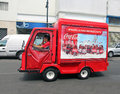 Coca cola mini vehicle Arkivbild
