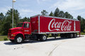 Coca cola truck jacksonville fl may a red the company is an american beverage corporation best known for its flagship Stock Photography