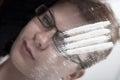 Cocaine And Drug Addicted Businesswoman