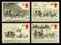 Coche de correo de gran bretaña postage stamps Imágenes de archivo libres de regalías