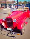 Coche rojo clásico Foto de archivo
