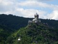 Cochem castle on mountain top Stock Photography
