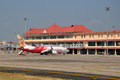 Cochin international airport kochi india jan an air india express boeing parked at Stock Photos