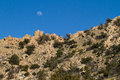 Cochise stronghold moonrise over in the dragoon mts of southwestern arizona Royalty Free Stock Photography