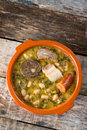 Cocido monta�es. Mountain stew Royalty Free Stock Image