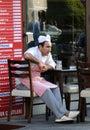 Cocinero cansado during rest Fotografía de archivo