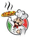 Cocinero de la pizza Imágenes de archivo libres de regalías