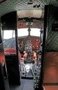 Cockpit of airplane Li-2