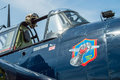 Cockpit of Grumman TBF Avenger E3 Royalty Free Stock Photo