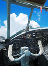 Cockpit of the old biplane Royalty Free Stock Photo