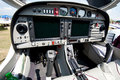 Cockpit of small sport airplane Royalty Free Stock Photo