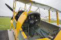 Cockpit of Tiger Moth biplane Royalty Free Stock Photo
