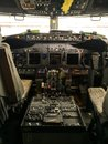 stock image of  The cockpit view of a boeing 737-800