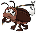 Cockroach cartoon get out Royalty Free Stock Image