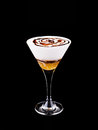 Cocktail amaretto coffee isolated on black Stock Image