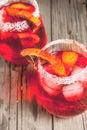Cocktail bloody orange margarita Royalty Free Stock Photo