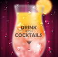 Cocktail Blurred Background