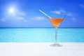 Cocktail drink sea Royalty Free Stock Photo