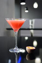 Cocktail fresh on the dark background Stock Photo