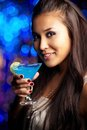 Cocktail girl Stock Image