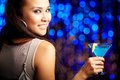 Cocktail girl Royalty Free Stock Photography