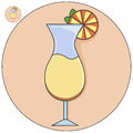 Cocktail in a glass vector icon