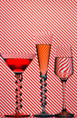 Cocktail glasses Royalty Free Stock Photo