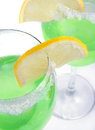 Cocktail green with the lemon Stock Photography